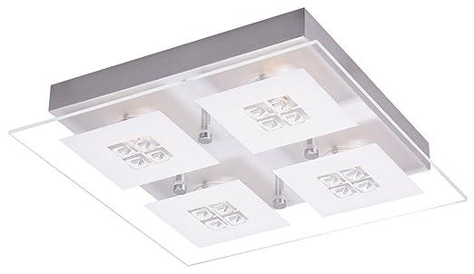 Haysom interiors designer spazzolato a led per bagno con inserti