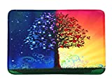 Life Tree 3D Printed Anti-slip Bath Rugs Anti-bacterial Soft Bathroom Mat Bathroom Carpet for Kids Safety with Memory Foam Fabric 15.7 x 23.6inches (#13)