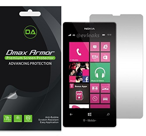[6-Pack] Dmax Armor for Nokia Lumia 521 Anti-Glare & Anti-Fingerprint (Matte) Screen Protector (Nokia 521 Screen Replacement)