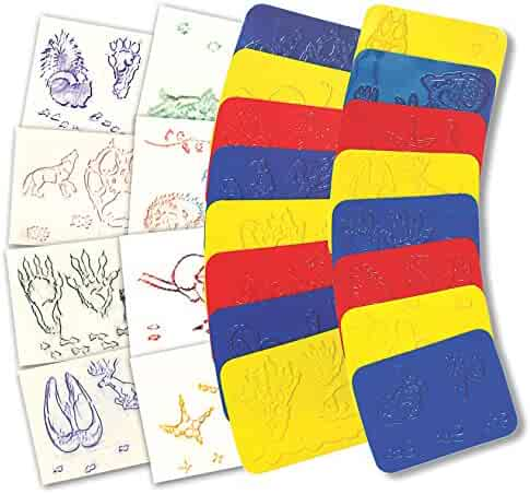 2.2000000000000002 Height 6.1 Length 4.5 Wide Roylco R-5837BN Rubbing Plates Terrific Track Grade Kindergarten to 1 Pack of 32 Pack of 3