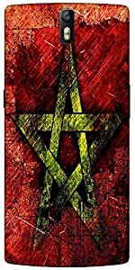 Snoogg Star Grunge Designer Protective Back Case Cover For One Plus One