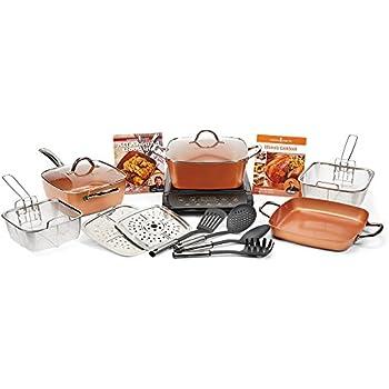 Amazon Com Copper Chef Xl 11 Quot 16 Pc Casserole Set With
