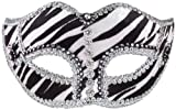 Forum Zebra Venetian Mask, Multi-Colored, One Size