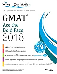 Wiley's GMAT Ace the Bold Face 2018