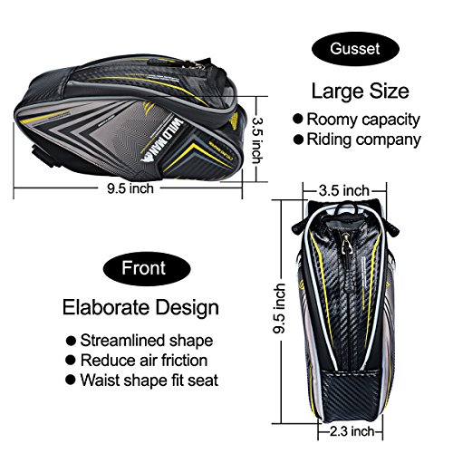 Bike Seat Bag 1.5L Mountain Road MTB Bicycle Frame Bag with Water Bottle Holder Water resistant Cycling Rear Seat Pack