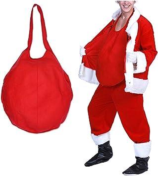 Amazon.com: DENTRUN - Disfraz de Papá Noel con relleno ...