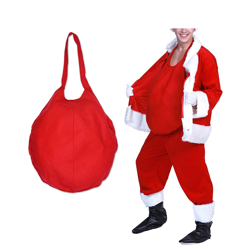 Christmas Adult Santa Big Belly Stuffer Fancy Dress Xmas Party Costume Accessory