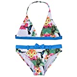 ZOEREA Little Girls Bikinis Two Piece Halter Tankini Swimwear Swimming Suit Set