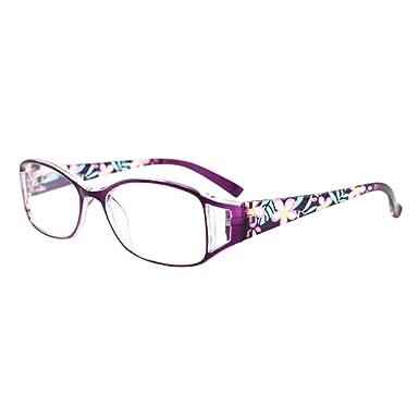 f1bed01b9d6164 Inlefen Dames de mode portent des lunettes de pâtes Lunettes de lecture  anti-fatigue Force