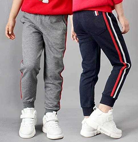 LittleXin OneBoy Kids Boys Casual Sports Pants Slim Fit Sweatpants Trousers Age 5-13 Years