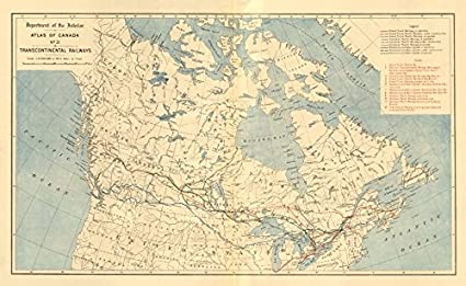 Canada Transcontinental Railways Canadian Pacific Grand Trunk ... on