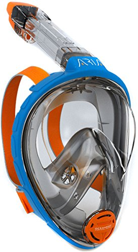 Ocean Reef Aria Full Face Snorkel Mask (Blue, Large/Extra Large)
