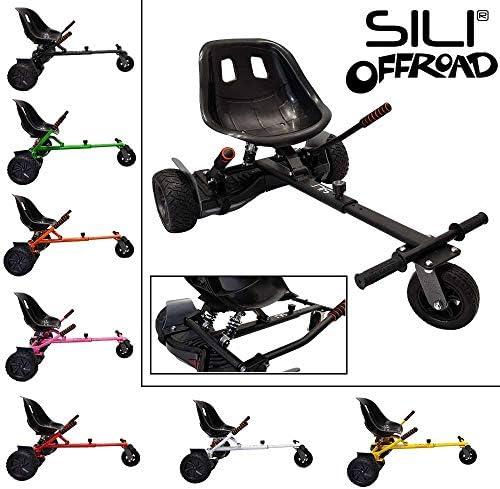 SILI® Kart de suspensión para Todo Terreno para Scooter de Auto Equilibrio de 2 Ruedas, diseño Mejorado con suspensión Debajo del Asiento para máxima Comodidad (Negro): Amazon.es: Deportes y aire libre