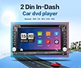BOSION Navigation Product 6.2 inch double din car gps navigation in dash car dvd player car stereo touch screen with Bluetooth usb sd mp3 radio for universal car with backup camera