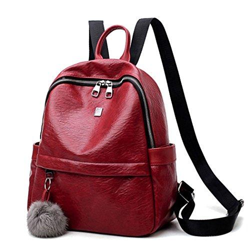 Borse Pelle Laptop Bordeaux Le Scuola Portafogli Zaino Bag Tracolla A Mano In Donne 0qn5RwB