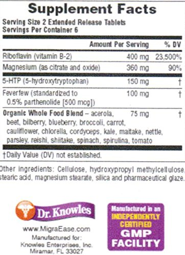 Dr. Knowles - Migraine Prevention Formula - 12 Caplets - Headache Treatment and Relief - Prevent Migraines While You Treat