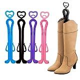 upright boot holder - Foxnovo 35cm Plastic Long Boots Shaper Stretcher Shoes Supporter Stand Holder Hanger - 4 pcs/set (Random Color)