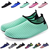 Bridawn Water Shoes for Women and Men, Quick-Dry Socks Barefoot Shoes for Swim Yoga Beach Surf Aqua Sports, Green, L