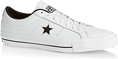 Converse One Star Leather Blanche Blanc 40: Amazon.fr ...