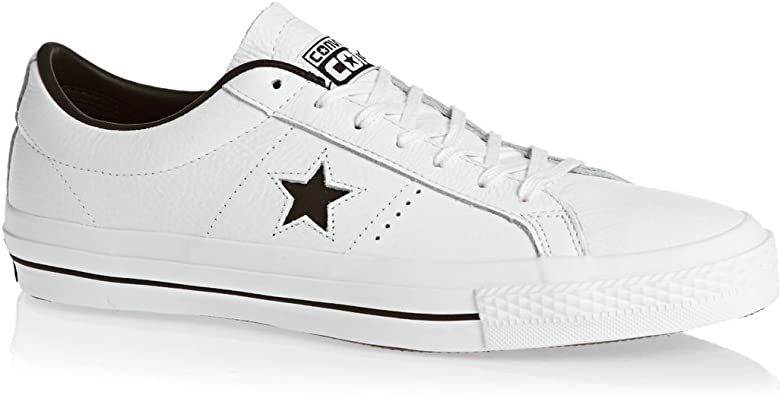 Converse Homme Cuir One Star Ox Formateurs, Blanc: Amazon.fr ...
