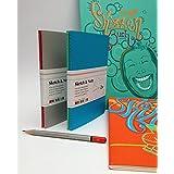 """Caderno """"Sketchbook"""" Hahnemühle Skech & Note A6 125 g/m² 20 folhas 2 unidades Azul/Verde"""