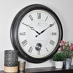 FirsTime & Co. Adair Wall Clock, 24, Oil Rubbed Bronze