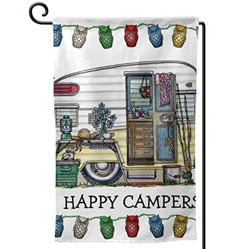 Private Bath Customiz Retro RV Vintage Camper Travel Trailer Garden Flag Vertical Double Sided 12.5 X 18 Inch Spring Summer Welcome Yard Decor Double Sided]()