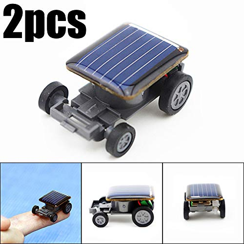 Creazy 2pcs Smallest Solar Power Mini Toy Car Racer Educational Solar Powered - Mini Solar Racer