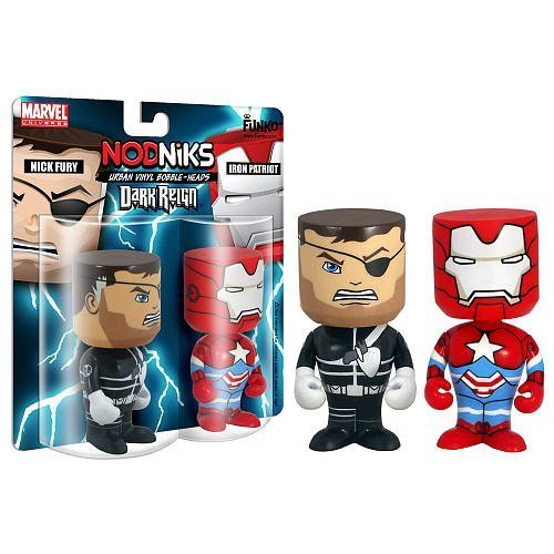Marvel Universe bobble-Head: Nick Fury and Iron Patriot(Dark Reign) by FunKo