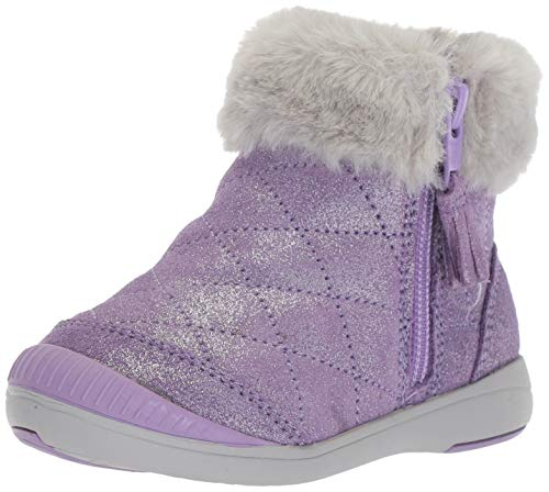 Stride Rite Chloe Girl's Sparkle Suede Bootie Fashion Boot, Purple, 11.5 M US Little Kid for $<!--$49.22-->