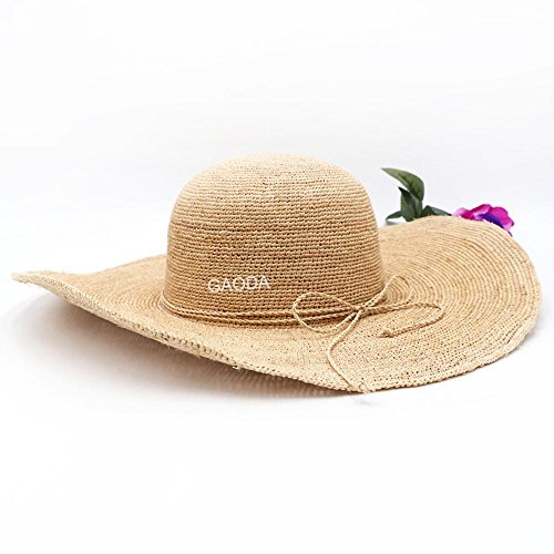 De Verano Grado Solar Sombrero Paja Haixin Visera Protector Playa Señora Alto La Señora x8UIwa
