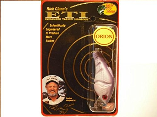 (RICK CLUNN'S ORION E.T.I Enhanced Target Imaging PURPLE GHOST #5 Crankbait FISHING LURE )