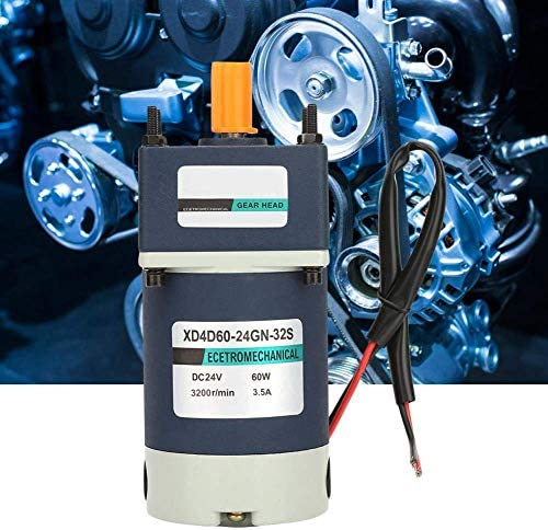 SSY-YU DCギアモーター、24V 60W 3200 RPM高速ねじり変動金利メタル永久磁石DCは、ウィンドウのドアオープナーウインチ用減速機(36、90RPM)でモーターをギヤード 電動工具用