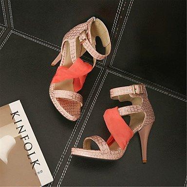 LvYuan Tacón Stiletto-Confort Innovador Zapatos del club-Sandalias-Boda Vestido Informal-Materiales Personalizados Semicuero-Azul Rosa Rojo Blue