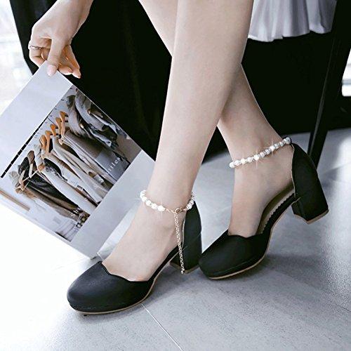 Sandali Con Cinturino Alla Caviglia Dolce Donna Con Cinturino Alla Caviglia E Sandali Con Tacco Medio Nero