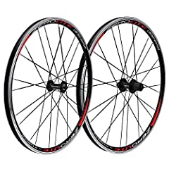 "An excellent set of rim brake mountain wheels at a great price. The Vuelta Zerolite 26"" mountain bike wheelset offers a lightweight, quality set of wheels that will be a sure upgrade for any newly confirmed MTB addict. An excellent set of rim..."