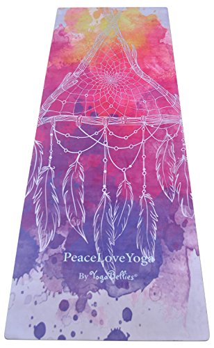 YogaBellies PeaceLoveYoga Mat by Luxury, Women's, Natural Rubber, Pro Yoga...
