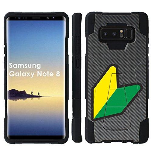 Spec Carbon Fiber ([Mobiflare] Dual Layer Armor Case [Kickstand] for Samsung Galaxy Note8 [Black/Black] Mil-Spec - [Carbon Fiber JDM Yo])