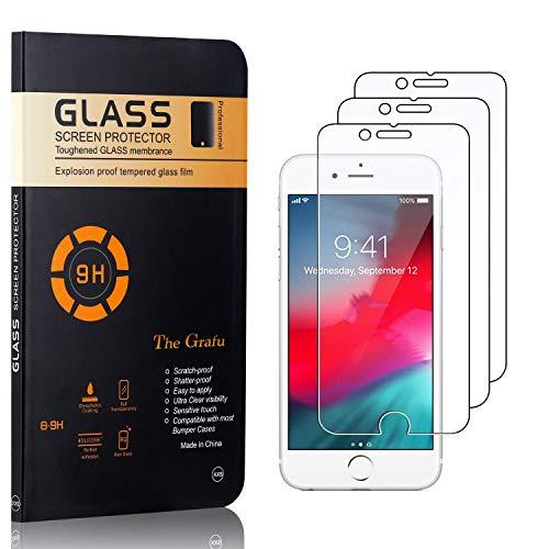 The Grafu Displayschutzfolie für iPhone 6S / iPhone 6, Anti Fingerabdruck, 3D Touch, Ultra klar Hart Schutzfilm aus Gehärtetem Glas für iPhone 6S / iPhone 6, 3 Stück