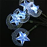 BGFHDSD 7M 50 LED Solar Moon Star Shaped Fairy String Lights Outdoor Home and Gardens Path Landscape Yard Decoration Lights Luces White 7m 50leds