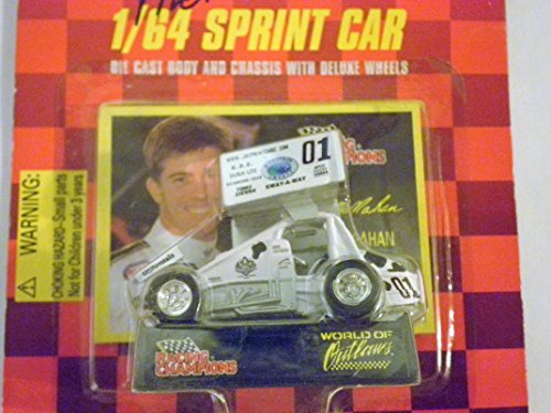 Checkered Flag Diecast - Sprint Car World of Outlaws Paul McMahan 1998 Red Checkered Flag Card 1:64 scale die-cast Racer by Racing Champions