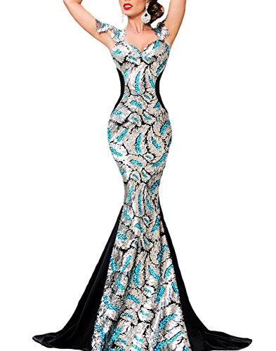 Cfanny Womens Embellishment Mermaid Evening