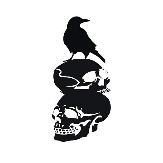 BESTOYARD 28 * 60 cm Negro Cuervo Cuervo Silueta Halloween ...
