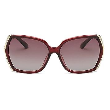 MQW UV400 Marrón Púrpura Damas Polarizadas Gafas Cuadradas ...