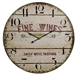 Antique Looking Fine Wines Wine Tasting Clock