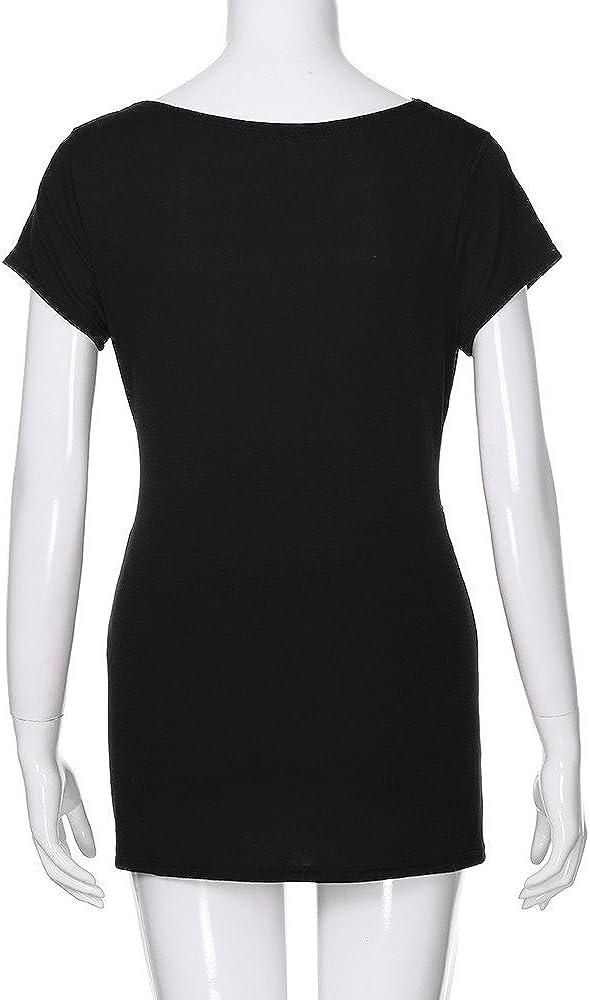 Womens Cap Sleeve Maternity Shirts V Neck Layered Nursing Tops for Breastfeeding