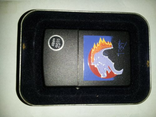 Zippo by Artist Stanley Mouse Flaming Horse Steve Miller Band - Drums Flaming