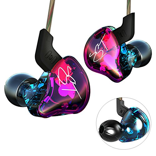 Yinyoo Hifi Headset KZ ZST Colorful Hybrid Banlance Armature with Dynamic In-ear Earphone Stereo Headphone earbuds (colorful ZST NOMIC)