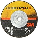 """3M Cubitron II Depressed Center Grinding Wheel T27 Quick Change, Ceramic Grain, 6"""" Diameter x 0.25"""" Thick, 36 Grit, 5/8""""-11 Arbor (Pack of 1)"""