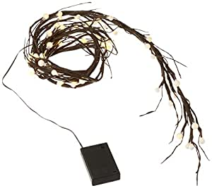 Gerson Everlasting Glow 92957 Wrapped City Lights LED Garland, 6', Brown